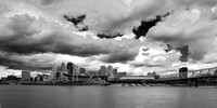 Big Sky over Cincinnati 2008 (B&W) #2455