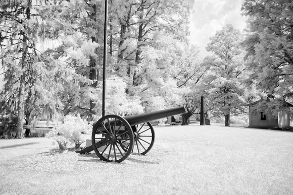 Canon at Spring Grove Cemetery (IR) #0085