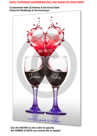 Couples Heart Wine Glass (SF) #9755M